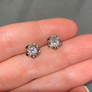 Crystal Diamond Stud Earrings